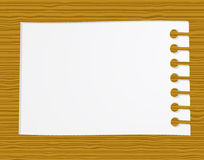 Notepaper on wood Stock Image