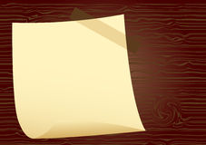 Notepaper on wood Royalty Free Stock Photos