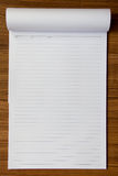 Notepaper on wood background Royalty Free Stock Photography