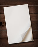 Notepaper on wooden table. Royalty Free Stock Photo