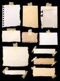 notepaperstycken royaltyfria bilder