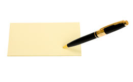Notepen in note Royalty Free Stock Images