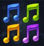 Vektormusikalen noterar Royaltyfri Foto