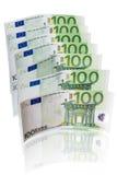 Euro 100 noterar Arkivfoton