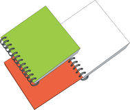 Notes 04. Notes open and closed in color 04 vector illustration