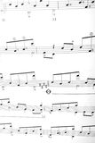 Notes. Piece of music written down by notes on a musical camp Royalty Free Stock Photography