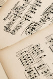 Notes. Scattered music sheets (funeral march Stock Photos