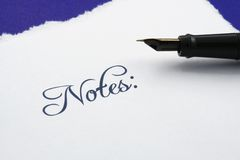 Notes Stock Photography
