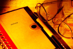 Notes Photographie stock