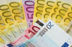 Notes. European notes Stock Photos