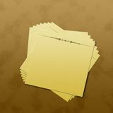 Notes. Illustration of a stack of post it on a desk Royalty Free Stock Photo