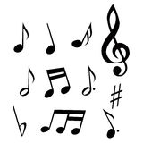 Notes. A simple set of various musical notes Stock Photo