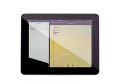 Notes App on iPad royalty free stock image