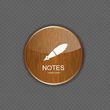 Notes application icons vector illustration Stock Photos