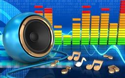 notes audio du spectre 3d Image libre de droits