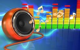 notes audio du spectre 3d Images stock