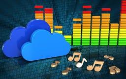 notes audio du spectre 3d Images libres de droits