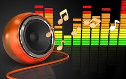 notes audio du spectre 3d Photographie stock