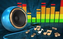 notes audio du spectre 3d Photographie stock libre de droits
