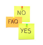 Notes avec le FAQ Photo libre de droits