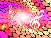 Notes Background Means Sheet Music And Backdrop Royalty Free Stock Images