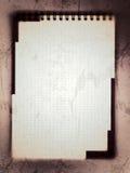 Notes blanc Photos stock