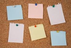 Notes blanc Photo libre de droits