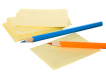 Notes block and crayon Stock Image