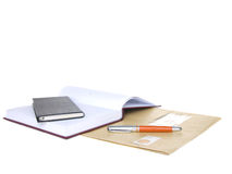 Notes block and pen Royalty Free Stock Image