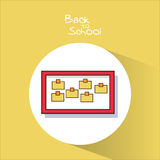 Notes board of back to school design Royalty Free Stock Photos