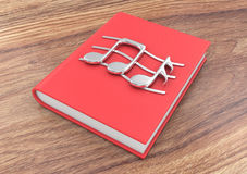 Notes on a book Stock Photo