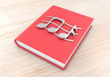 Notes on a book Stock Images