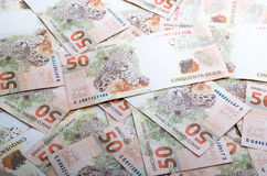 Notes Brazilian money. Fifty reais stock image