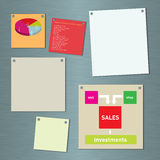 Notes on a business communication board Stock Images