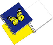 Notes with butterfly 05 Royalty Free Stock Photo