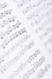 Notes closeup Stock Images