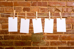 Notes on a Clothesline Royalty Free Stock Photo