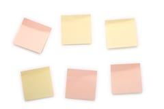 Notes collantes photographie stock libre de droits
