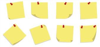 Notes collantes avec des broches illustration stock