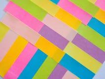 Notes collantes colorées comme fond Image libre de droits