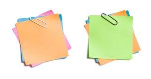 Notes collantes coupées Photos libres de droits