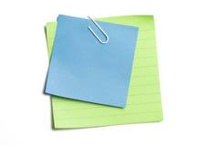 Notes collantes coupées Photographie stock libre de droits