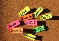 Notes collantes de motivation Image libre de droits