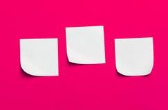 Notes collantes de rappel Photo libre de droits