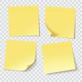 Notes collantes jaunes illustration libre de droits