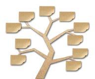 Notes collantes sur l'arbre fait de papier réutilisé Image libre de droits
