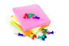 Notes colorées de collant Photo libre de droits