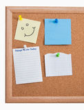 Notes on Cork Board Royalty Free Stock Photography