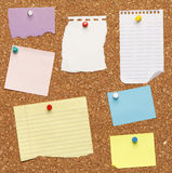 Notes on Cork Board Stock Photo