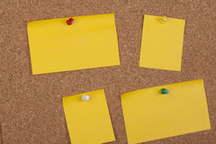 Notes On Cork Board Stock Image